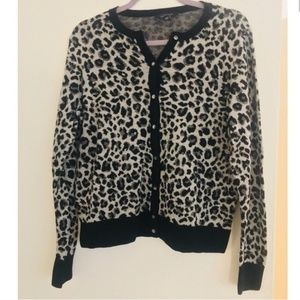 Ann Taylor animal print cardigan